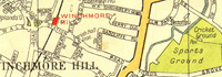 SOUTHGATE. Winchmore Hill Grange Park Palmers Green Bush Hill 1937 old map